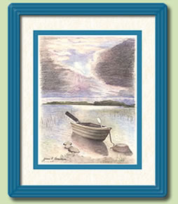 """Row Boat on The Lake"" by Yvonne Vermillion"