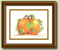 """Harvest Pumpkin"" by Yvonne Vermillion"